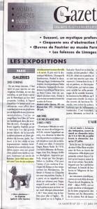 Article Gazette de Drouot, June 1996