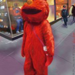 Elmo on 42nd St., NYC 17-12-2012