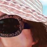 Sophie's sun glasses, Les Gauchers, July 2012