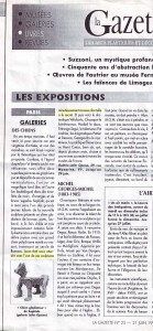 Article Gazette de Drouot, June 1996