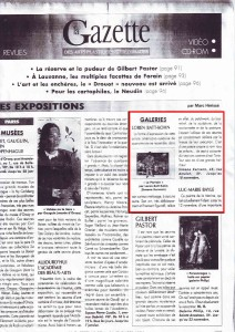 Article Gazette de Drouot Nov.,1995