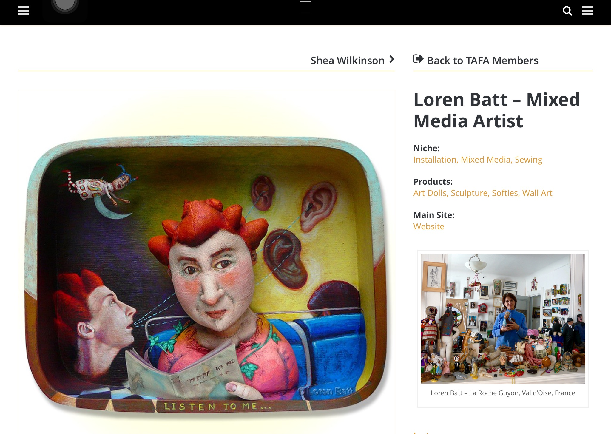 Loren Batt profile for TAFA list