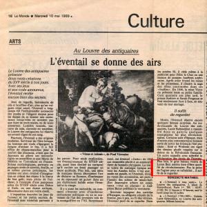 Le Monde,10 Mai,1989