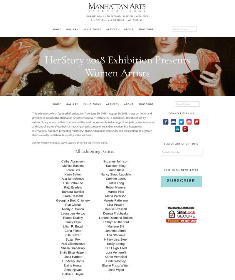 Herstory online exhibition 2018